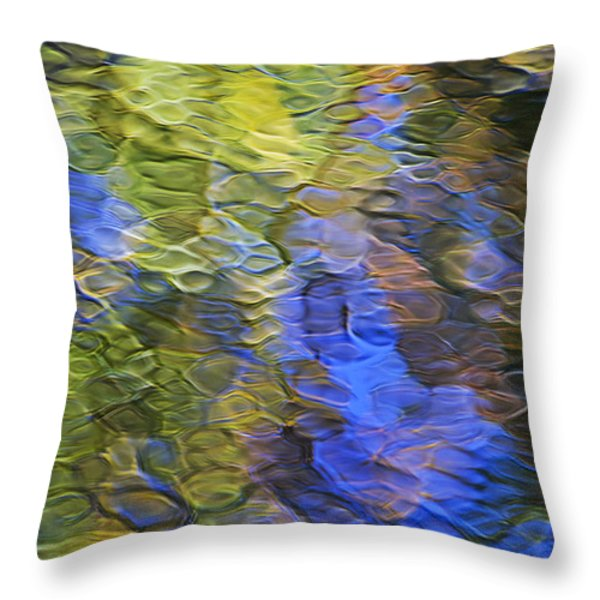Tangerine Twist Mosaic Abstract Art Throw Pillow by Christina Rollo