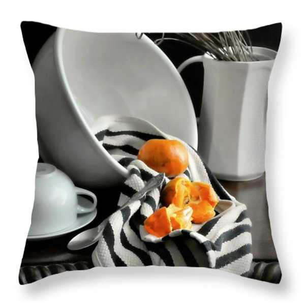 Tangerines Throw Pillow by Diana Angstadt