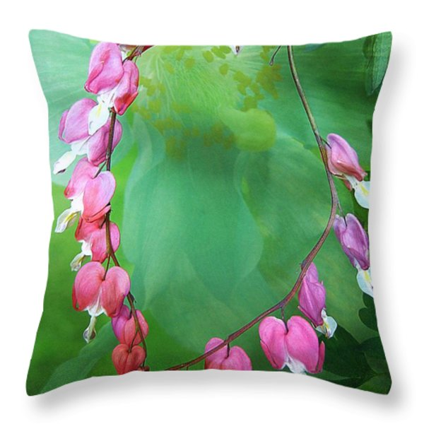 Tangled Love Throw Pillow by Shirley Sirois