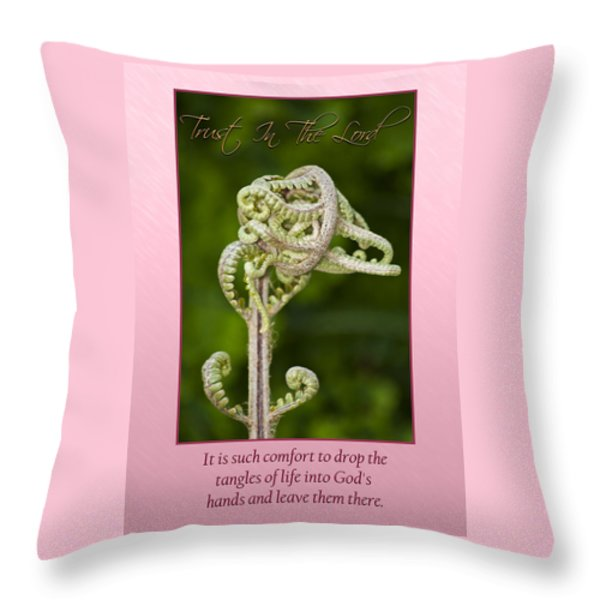 Tangles Throw Pillow by Carolyn Marshall