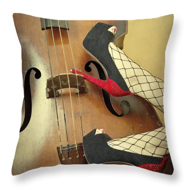 Tango For Strings Throw Pillow by Evelina Kremsdorf
