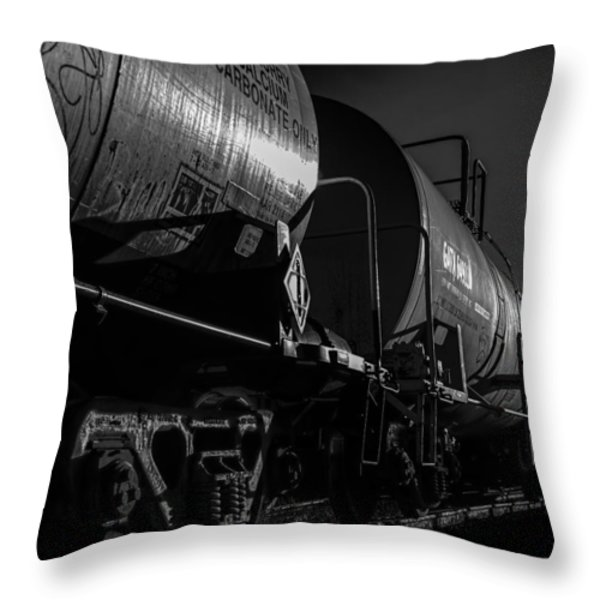 Tanker Cars Throw Pillow by Bob Orsillo
