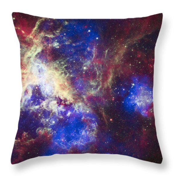 Tarantula Nebula Throw Pillow by Adam Romanowicz