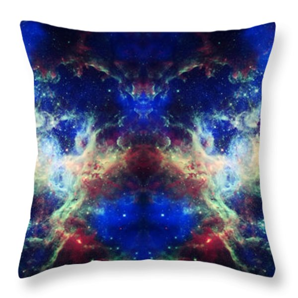 Tarantula Nebula Reflection Throw Pillow by The  Vault - Jennifer Rondinelli Reilly