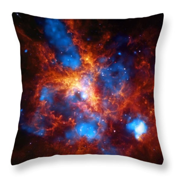 Tarantula Nebula Throw Pillow by The  Vault - Jennifer Rondinelli Reilly