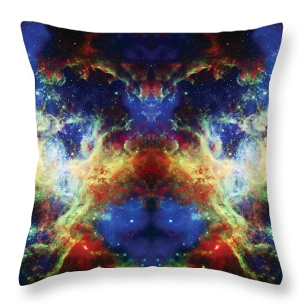 Tarantula Reflection 2 Throw Pillow by The  Vault - Jennifer Rondinelli Reilly
