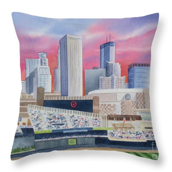 Target Field Throw Pillow by Deborah Ronglien