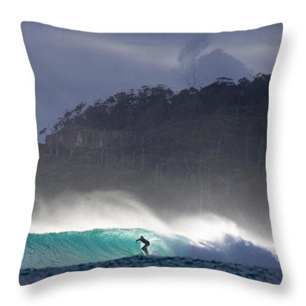Tasmania Dream Throw Pillow by Sean Davey