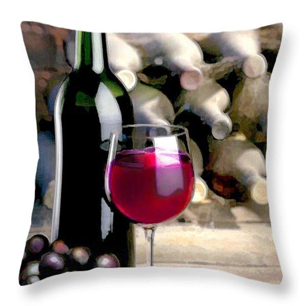 Tasting Time Throw Pillow by Elaine Plesser
