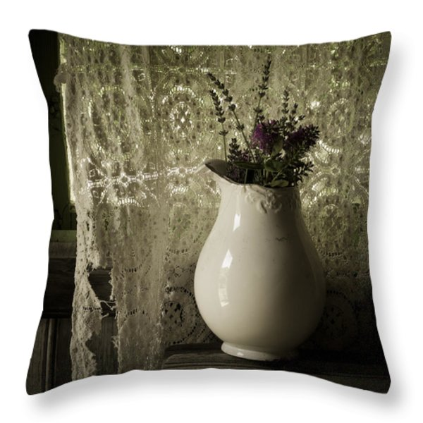 Tattered Throw Pillow by Amy Weiss