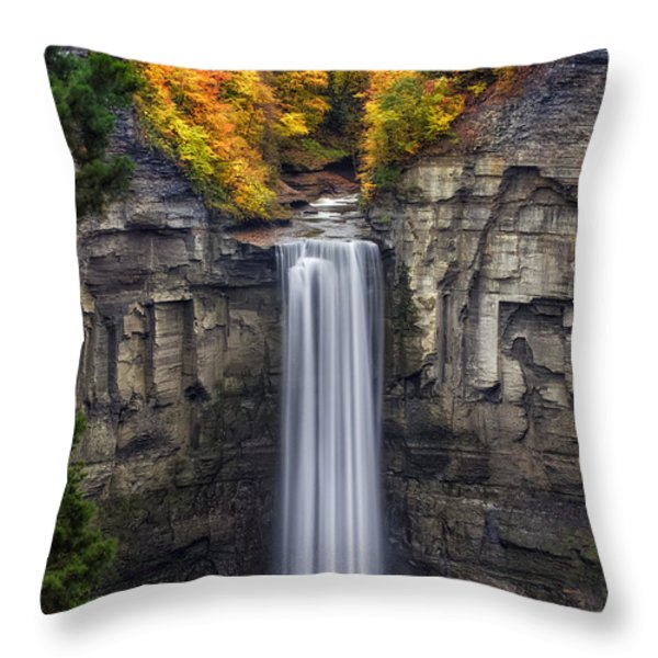 Taughannock Throw Pillow by Mark Papke