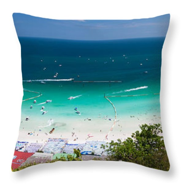 Tawaen Beach Throw Pillow by Atiketta Sangasaeng