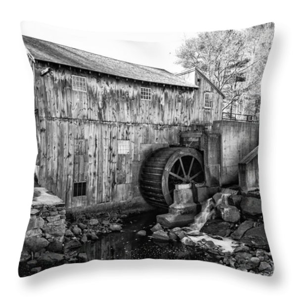 Taylor Sawmill - Derry New Hampshire Usa Throw Pillow by Erin Paul Donovan