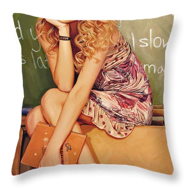 Taylor Swift Artwork Throw Pillow by Sheraz A