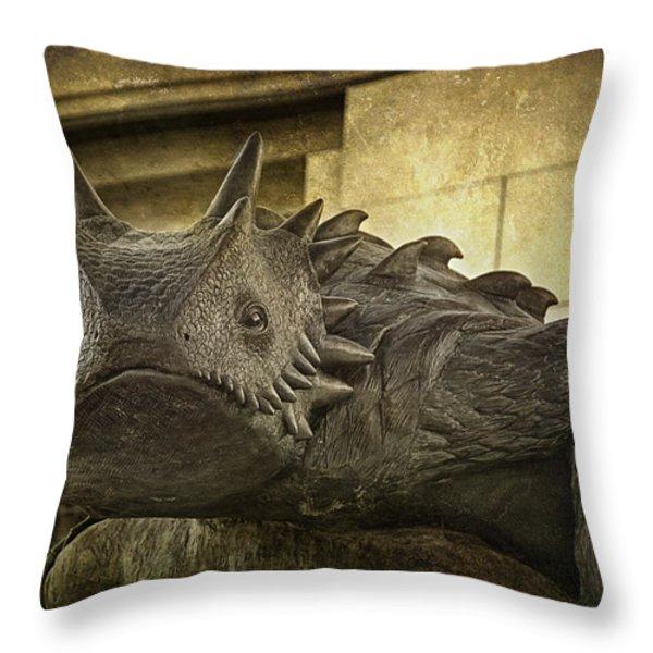 Tcu Horned Frog Throw Pillow by Joan Carroll