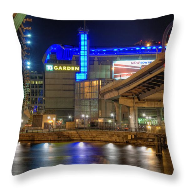 TD Garden - Boston Throw Pillow by Joann Vitali