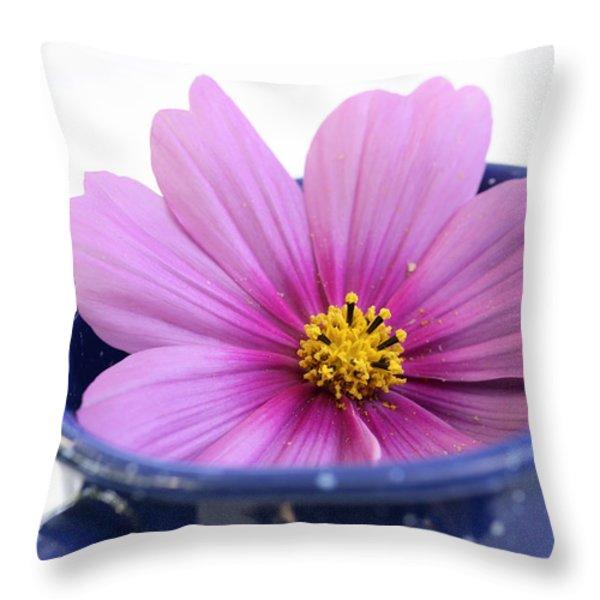 Tea Garden Throw Pillow by Frank Tschakert