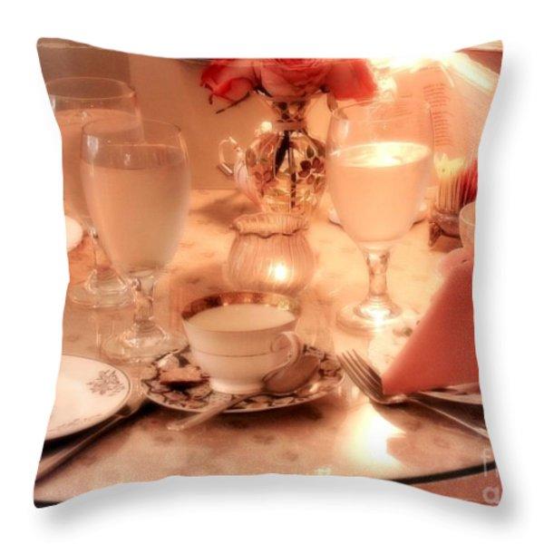Tea Time Throw Pillow by Carol Groenen