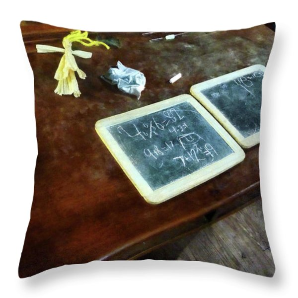 Teacher - School Slates Throw Pillow by Susan Savad