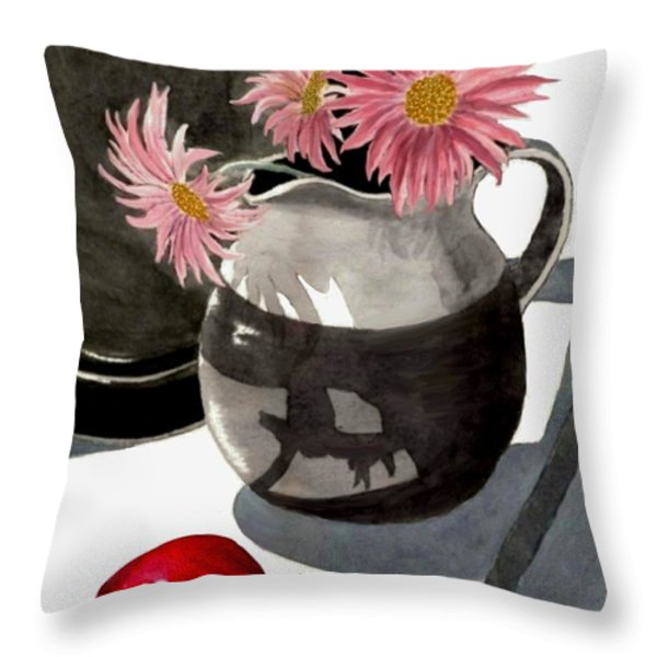 Teachers Apple Throw Pillow by Ronald Chambers