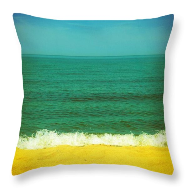 Teal Waters Throw Pillow by Michelle Calkins