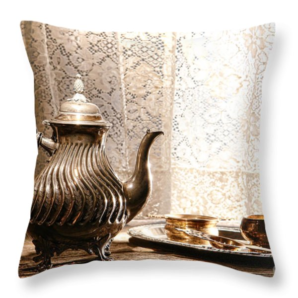 Teatime Throw Pillow by Olivier Le Queinec