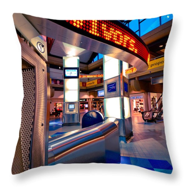 Technology Curve Pittsburgh International Airport Throw Pillow by Amy Cicconi