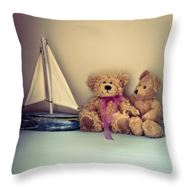 Teddy Bears Throw Pillow by Jan Bickerton