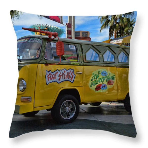 Teenage Mutant Ninja Turtles Throw Pillow by Tommy Anderson