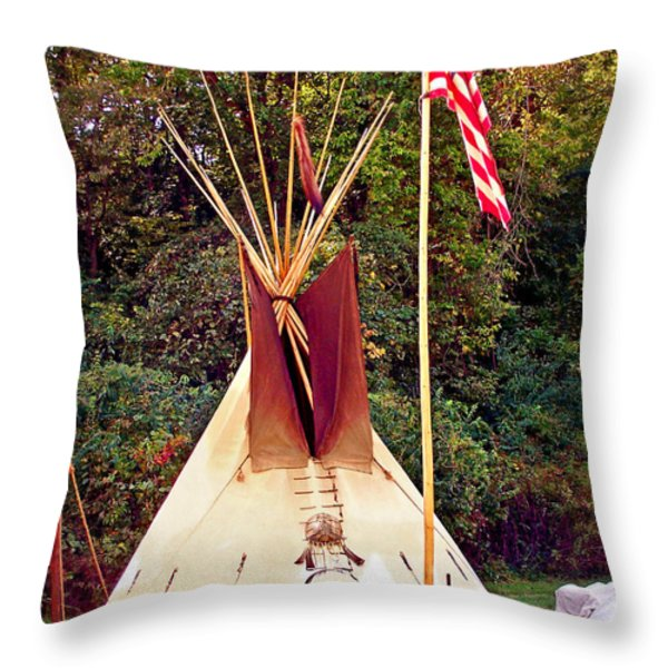 Teepee Throw Pillow by Marty Koch
