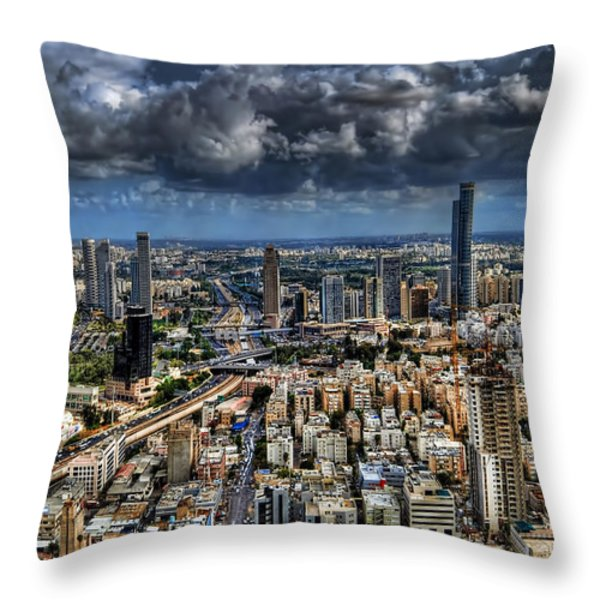Tel Aviv Love Throw Pillow by Ron Shoshani