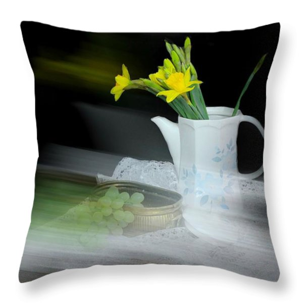 Telling Stories Throw Pillow by Diana Angstadt