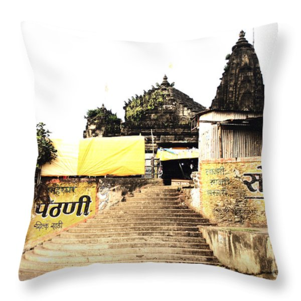 Temple In India Throw Pillow by Sumit Mehndiratta