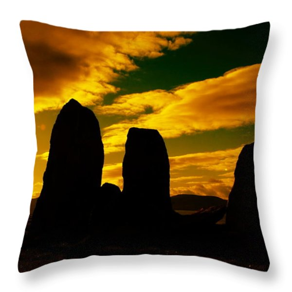 Temple Of The Ancients Throw Pillow by Aidan Moran
