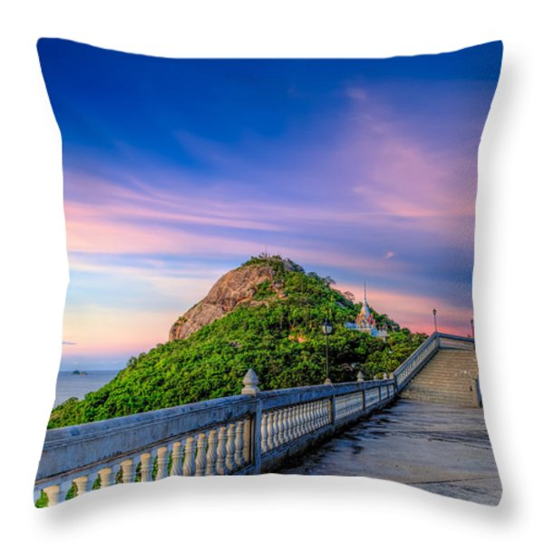 Temple Sunset Throw Pillow by Adrian Evans