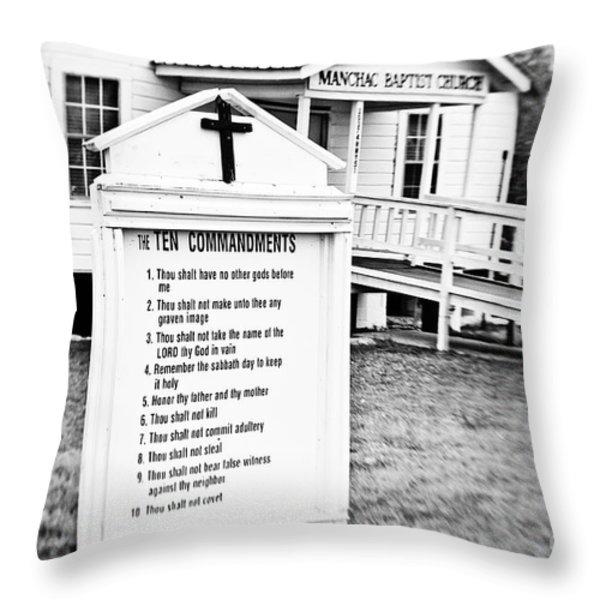 Ten Commandments Throw Pillow by Scott Pellegrin
