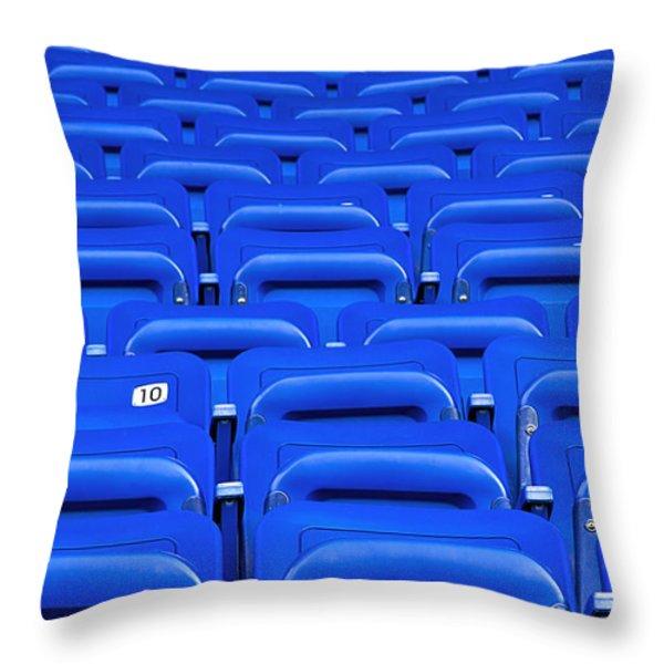 Ten Throw Pillow by Evelina Kremsdorf