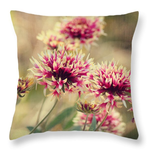 Tender Pink Blooms Throw Pillow by Melanie Lankford Photography
