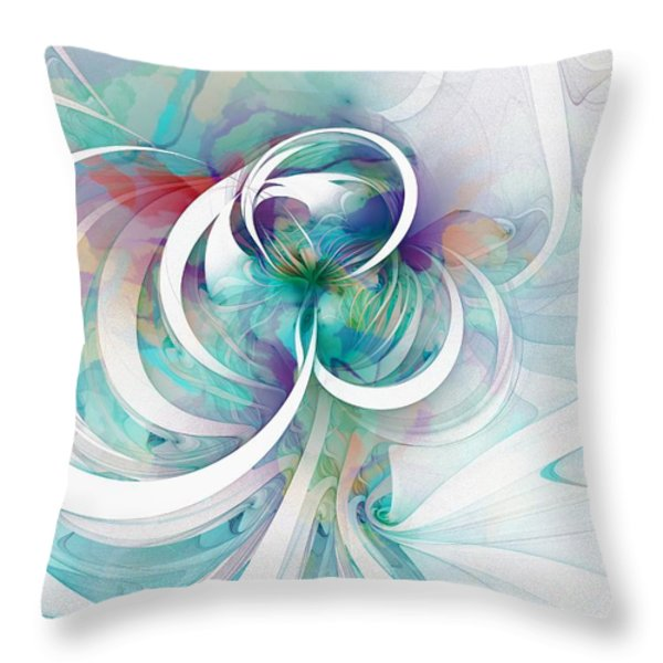 Tendrils 03 Throw Pillow by Amanda Moore