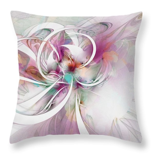 Tendrils 07 Throw Pillow by Amanda Moore