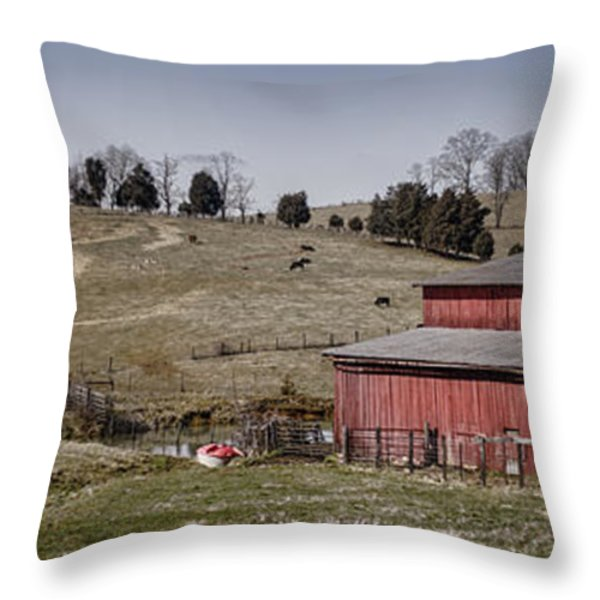 Tennessee Farmstead Throw Pillow by Heather Applegate