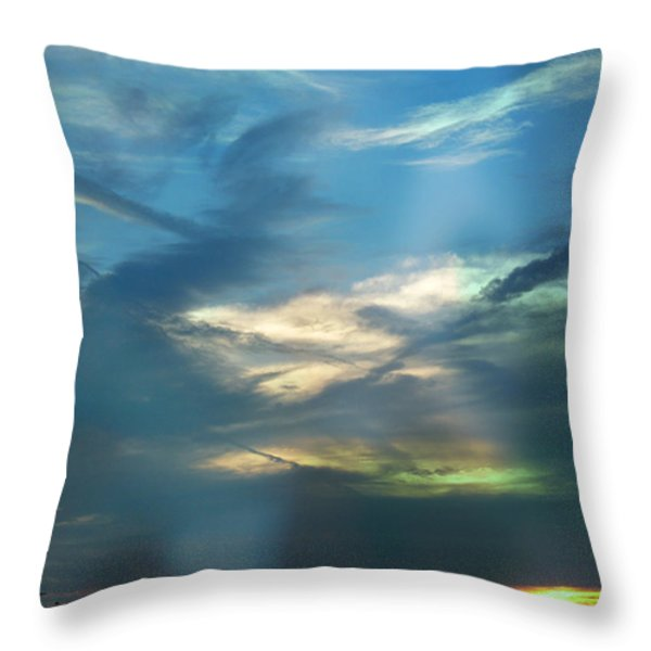 Tennessee Sunset Throw Pillow by EricaMaxine  Price