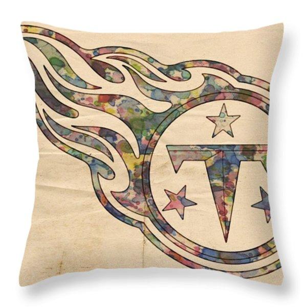 Tennessee Titans Poster Art Throw Pillow by Florian Rodarte