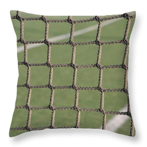 Tennis net Throw Pillow by Luis Alvarenga
