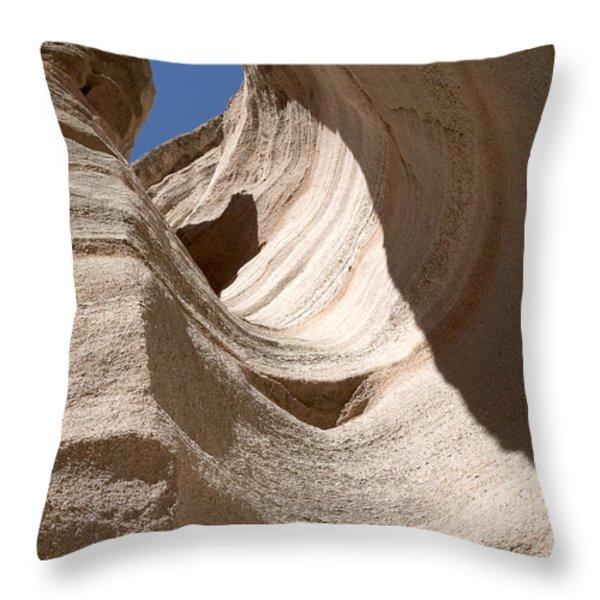 Tent Rocks Throw Pillow by Steven Ralser