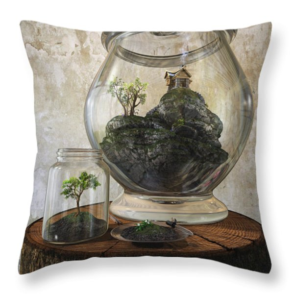 Terrarium Throw Pillow by Cynthia Decker