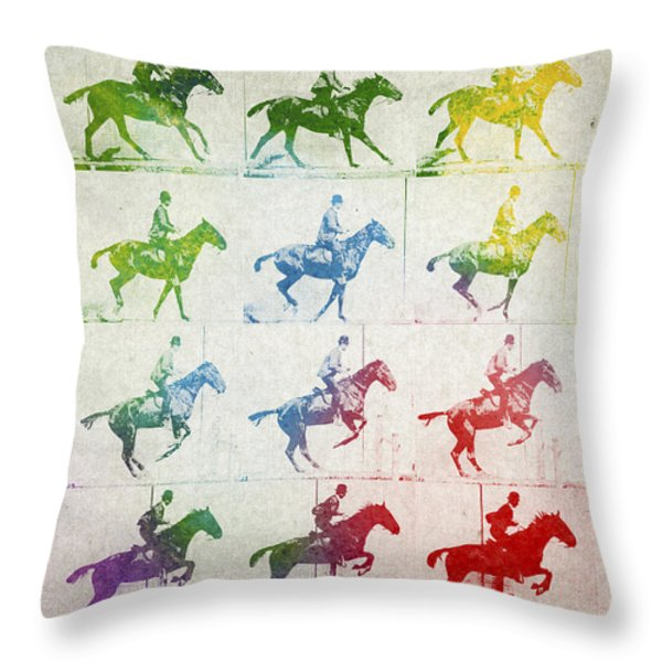 Terrestrial locomotion Throw Pillow by Aged Pixel
