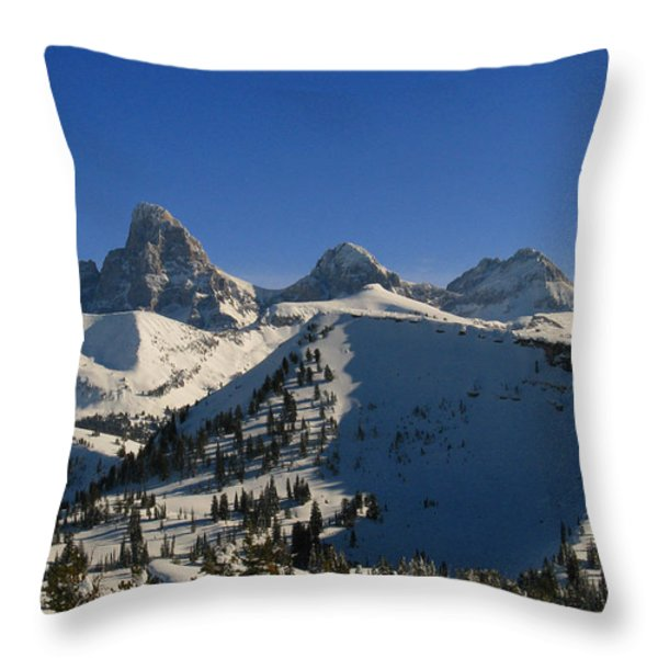 Teton Backcountry Throw Pillow by Raymond Salani III