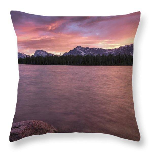 Teton Firesky Throw Pillow by Jon Glaser