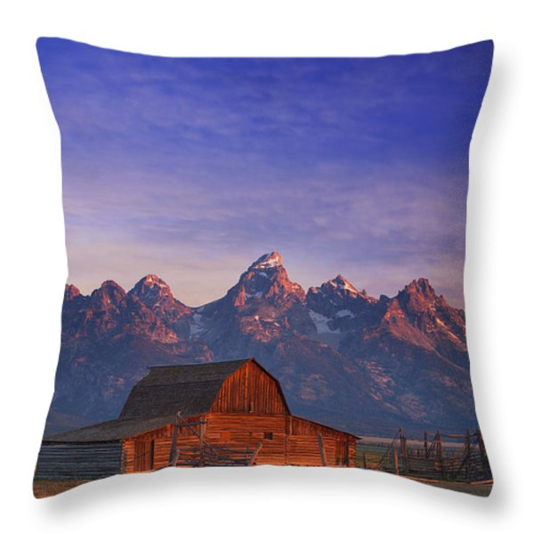 Teton Sunrise Throw Pillow by Darren  White